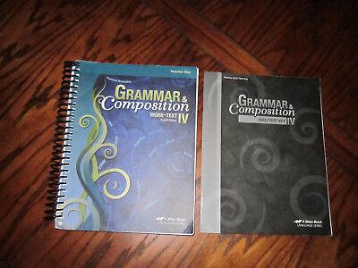 Abeka 10th Grade Grammar & Composition IV Keys Fourth Edition # 167894 # 167916 for sale  Victoria