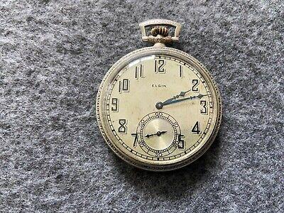Vintage Elgin Mechanical Wind Up Pocket Watch