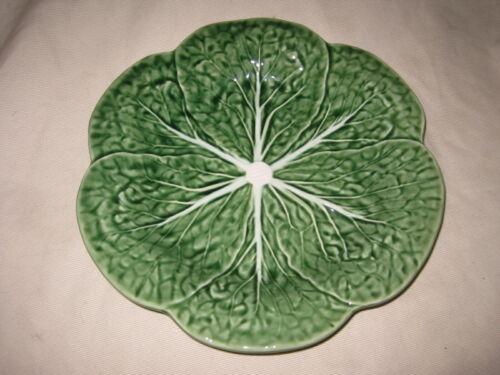 "Bordallo Pinheiro 9 1/4"" Cabbage Leaf Luncheon / Salad Plate"