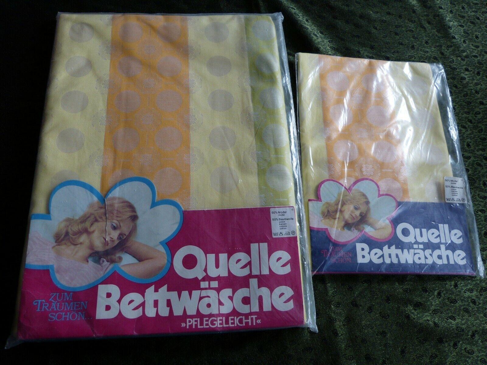 QUELLE Bettwäsche aus Nachlass OVP unbenutzt Vintage