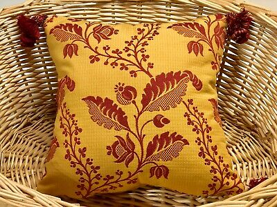 FRENCH Na, PROVENCE STYLE  TOSS PILLOW 11 X 11, YELLOW/RED