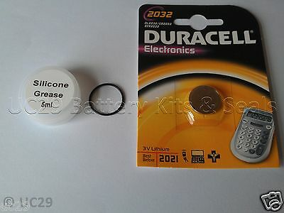 Duracell Battery & O Ring Kit For Suunto Vyper Air 2 Zoop Hel02 with FREE Grease