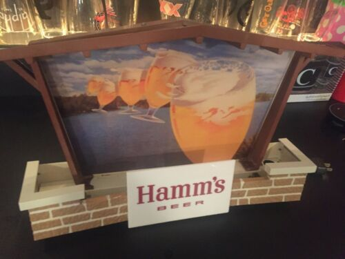 RARE 1950s BREWERIANA: Lighted Vintage Hamms Beer Chalet Sign - WORKS!!!