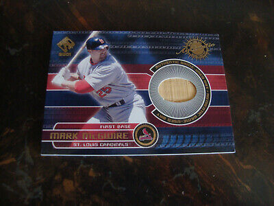 2001 Pacific Private Stock Baseball--Game Used Gear--Game Bat--#145 Mark McGwire