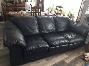 Soft leather couch.