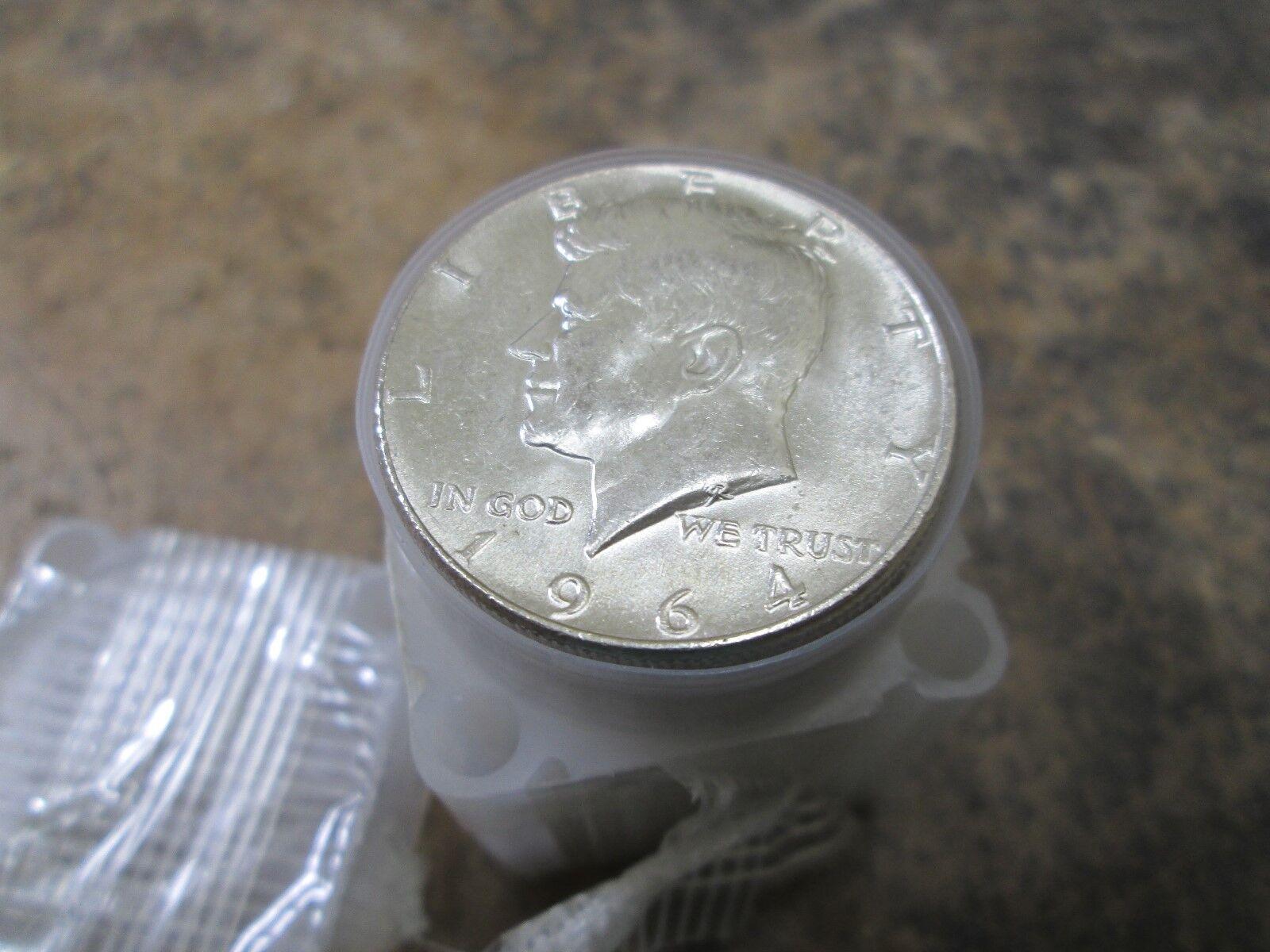 A Roll of BU/UNC 1964 Kennedy 90% Silver Half Dollars Nice ORIGINAL ROLL
