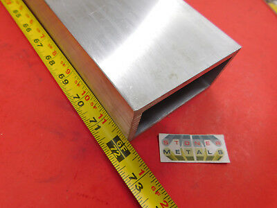 2 X 4 X 14 Wall Aluminum Rectangle Tube 6061 T6 72 Long 2.0x 4.0x .25