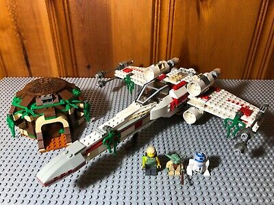 LEGO Star Wars VINTAGE 4502 X-wing Fighter Dagobah W/ Manual 2 pieces replaced
