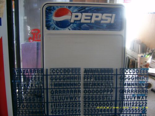 New Pepsi-Cola Menu Board sign countertop or wall mount w/letter & numbers sets