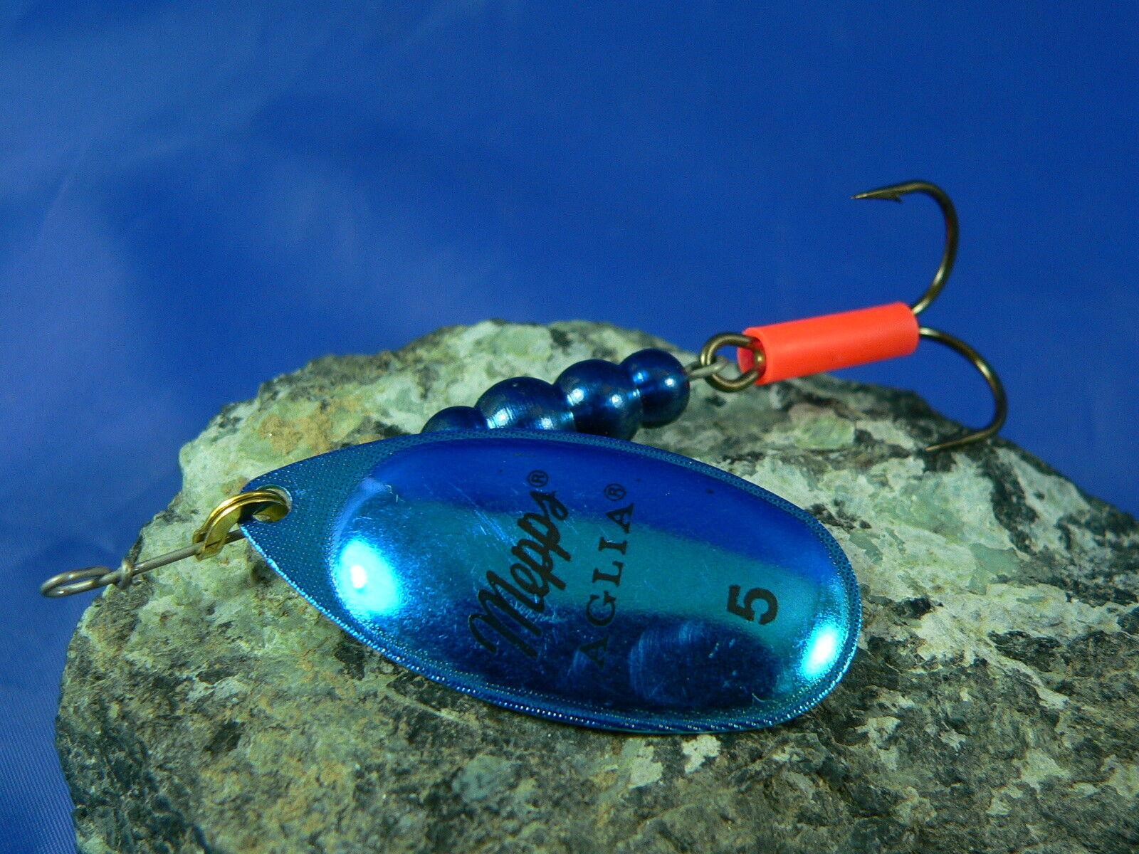 Cucchiaino Mepps Aglia (4 e 5) pesca trota marmorata, luccio persico, black bass