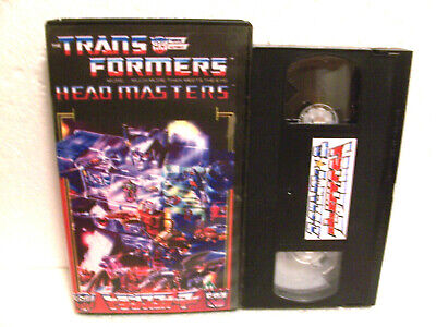 Transformers: Japnanese Headmasters VHS cassette ENG subtitled collector owned