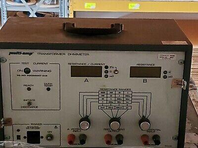 Megger Multi-amp Avo 830280 Transformer Ohmmeter