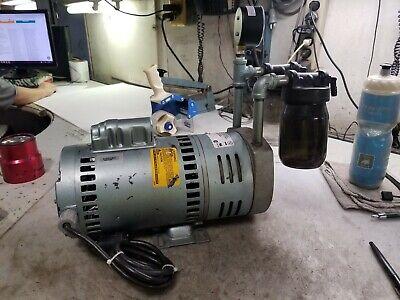 Gast 34 Hp Rotary Vane Vacuum Pump 1725 Rpm 10.0 Cfm 115230 Vac 1023-v3078b-g6