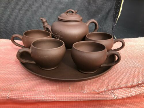 China Chinese Yixing Zisha Purple Clay 6 pieces teapot service set