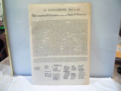 5 Historic Documents Dec Of Independence, Constitution, Bill Of Rights, on parch