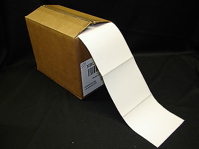 "4"" x 4"" Freezer Adhesive Thermal Printer Perforated Labels Fanfold (Qty-2000)"