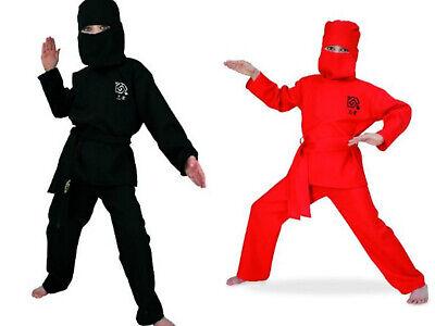 Ninja Kostüm Kinder Samurei Kämpfer Ninjakostüm Gr.128-152 Halloween Karneval ()