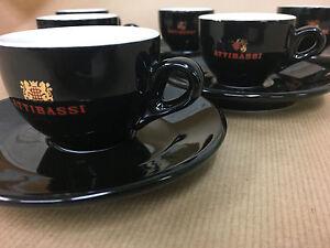 Set of 6 Italian Espresso Coffee Cups, Catering Illy Kimbo Lavazza Nescafe Style