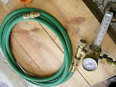 Argon Carbon Dioxide Regulator Flow Meter Gauge Mig Tig Welding With Hose