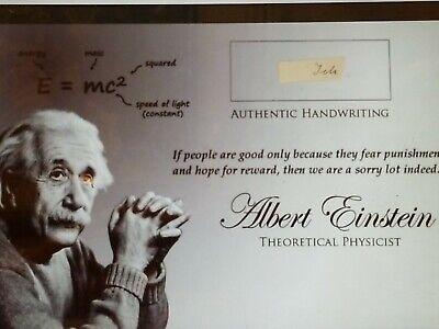 """albert einstein handwriting hand written jsa coa """"signed"""" signed cut word real"""