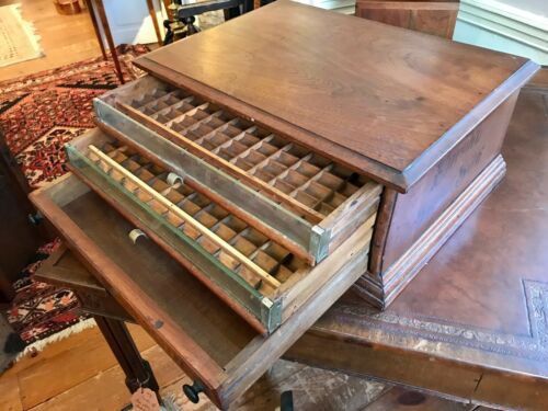 Vintage Eureka Spool Silk Wooden Thread Spool Cabinet