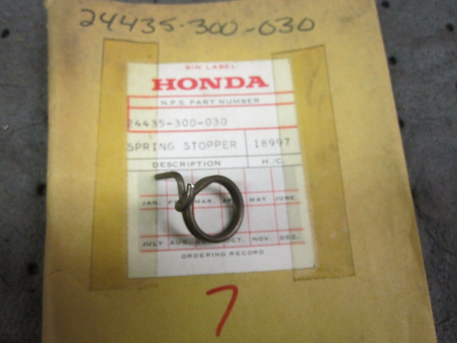 Honda CB 750 OEM Shift Drum Stopper Spring 24435-300-030