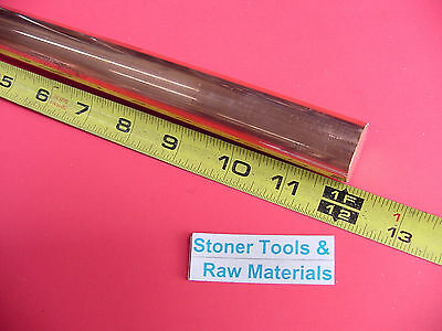 1 C110 Copper Round Rod 12 Long H04 Solid 1.00 Od Cu New Lathe Bar Stock