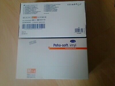 2×Schutzhandschuhe Hartmann Peha soft vinyl Puder&Latex frei Gr. M