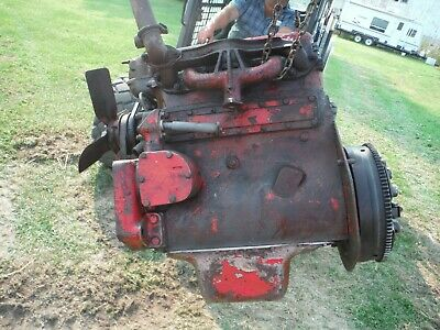 Ih Farmall Tractor 300 Utility C-169 Engine Ran Great When Removed