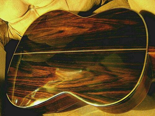 "Nice ""Figured Brazilian Rosewood Carlos # 236"" Classical Acoustic Guitar + Case"