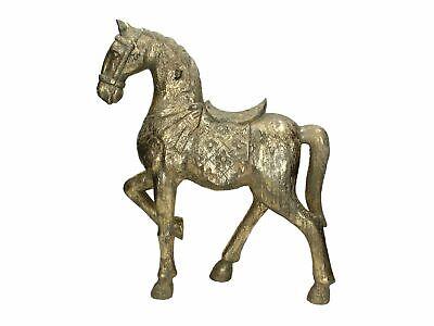 Glamouröse Pferde Skulptur 45 cm Deko Pferd Figur Reiten Reitsport