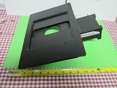 Microscope Part Polyvar Leica Reichert Stage Specimen Micrometer As Is Bina8
