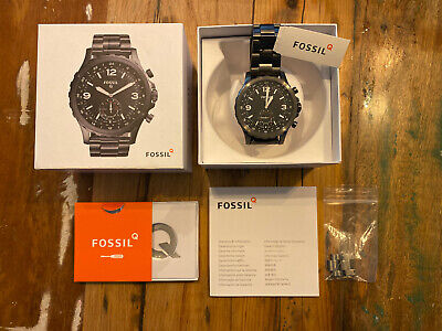 Fossil Hybrid Smartwatch FTW1160 - Q Nate - Smoke Stainless Steel