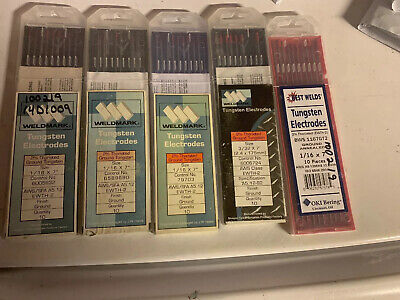LOT OF TUNGSTEN ELECTRODES - various brands and sizes  Weldmark Best
