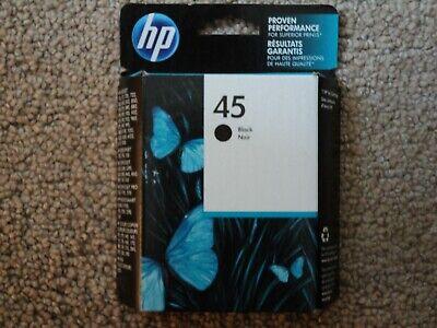 GENUINE HP 45 INK BLACK 51645A NEW FRESH FACTORY SEALED BOX 2021 Hewlett Packard Box