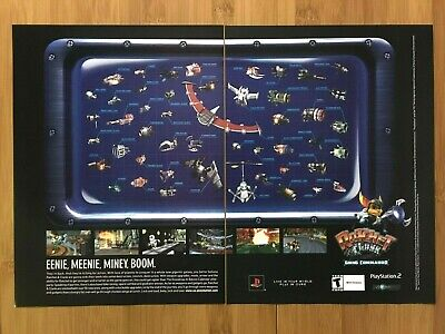 Ratchet & Clank: Going Commando PS2 2003 Vintage Print Ad/Poster Official Rare