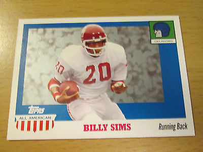 2005 TOPPS ALL-AMERICAN BILLY SIMS OKLAHOMA SOONERS DETROIT LIONS HEISMAN TROPHY