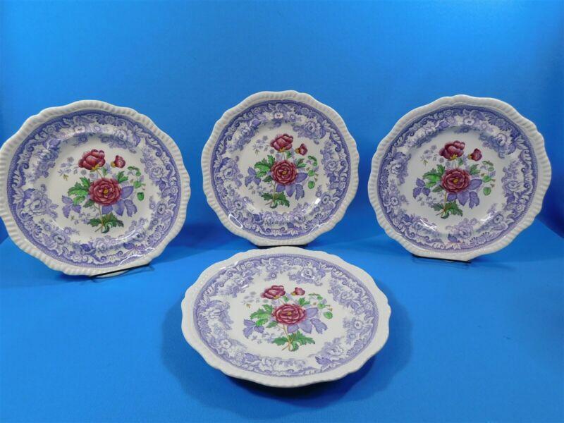 """Set Of 4 Old Mark Copeland Spode MAYFLOWER 11"""" Dinner Plates"""