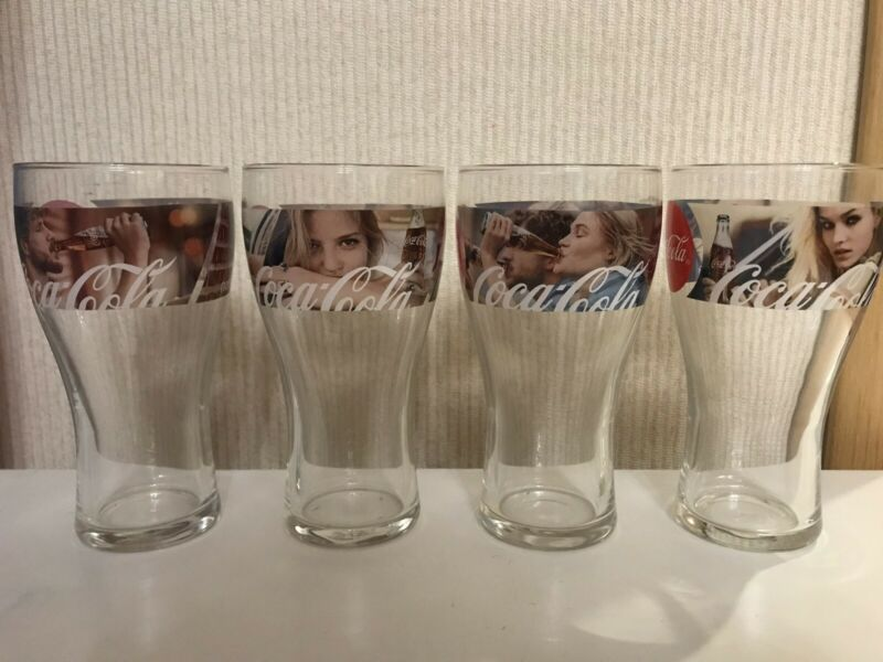 Set of 4 Coca-Cola glasses