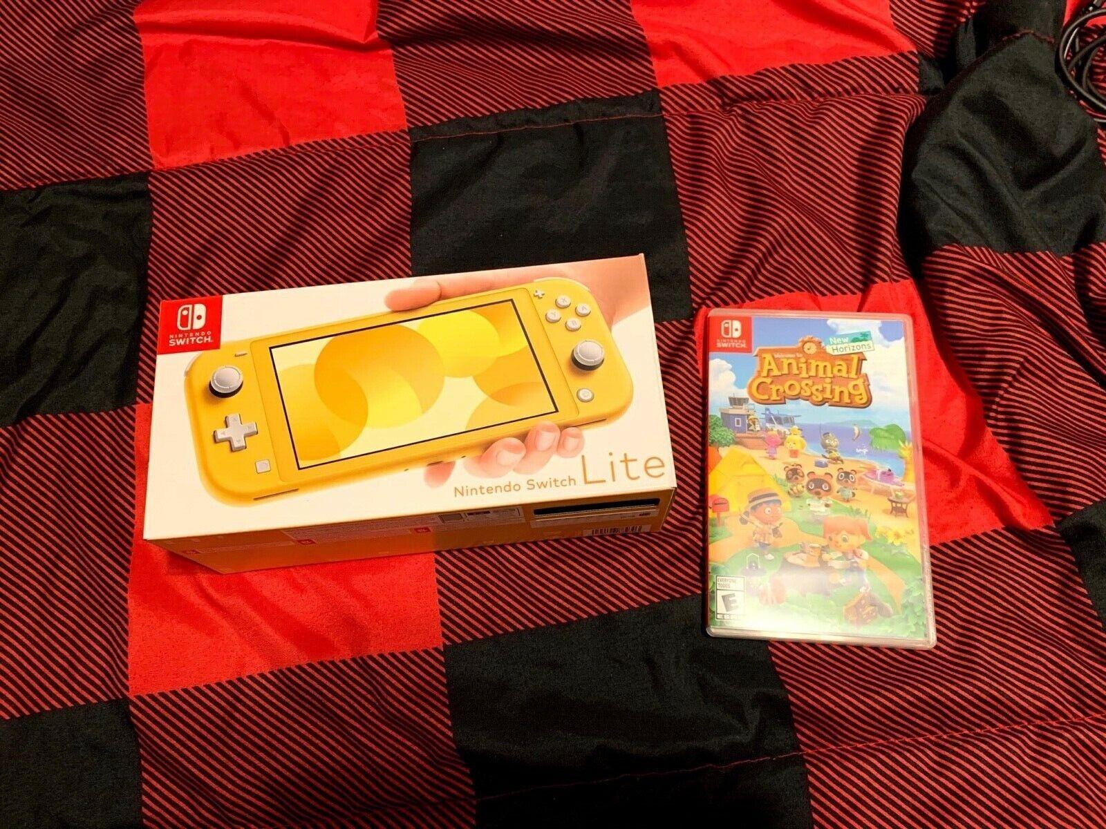 Nintendo Switch Lite Console - Yellow Animal Crossing New Horizons - $240.00