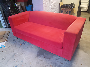 Bright red couch Springwood Logan Area Preview