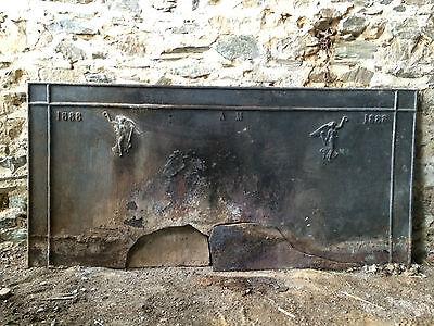 Plaque de Cheminée en fonte de 1888 ancienne