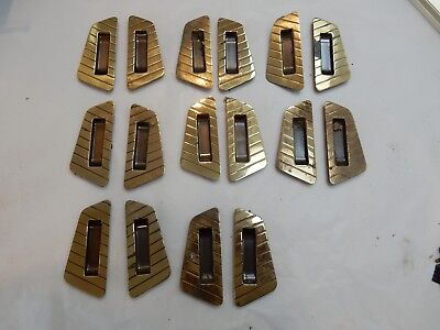 Shoji Screens or Sliding Door Handles 1950s era Brass plated vintage TO RESTORE