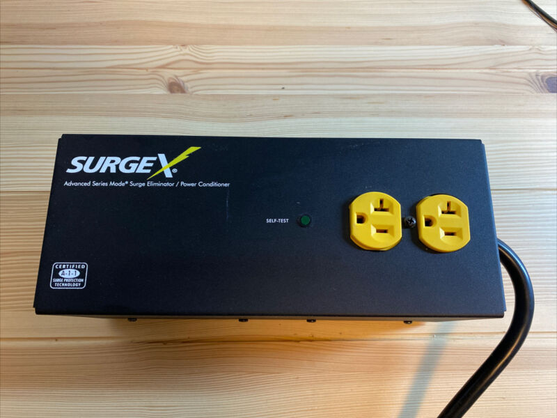 SurgeX SA-20 Surge Eliminator / Power Conditioner 20A/120V 2 Outlets