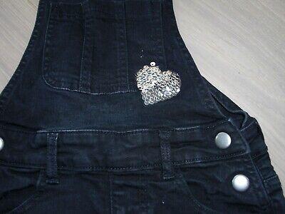 Latzrock Kleid Mädchen Jeans Gr. 140 mit Wendepailletten manguun Rock schwarz