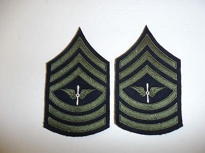 b1561p 1930's-WW2 US Army unofficial Army Air Corp Master Sergeant chevron R1D