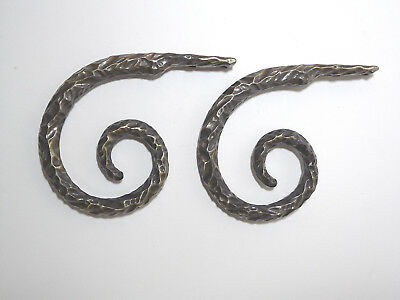 Twisted Horn Wall Hooks Curtain Holdbacks - Set of 2 - Bronze color