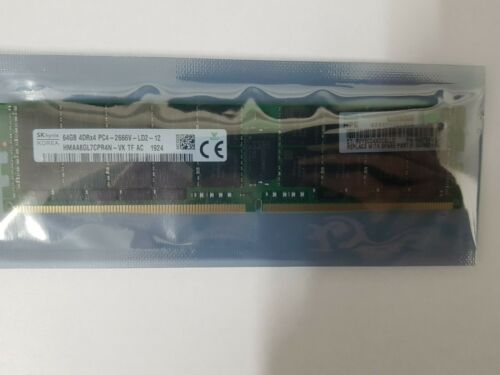 HPE 64GB DDR4 (1X64GB) PC4-2666V 2666MHZ ECC REGISTERED QUAD RANK RAM 840759-091