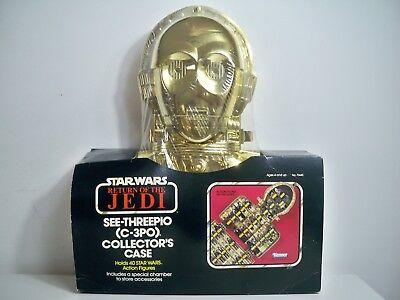 K1800271 C3PO COLLECTOR CASE MISB MINT IN SEALED BOX STAR WARS 1983 ROTJ VINTAGE for sale  Highland