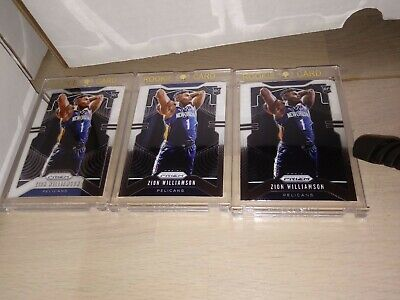 ZION WILLIAMSON 2019/20 PANINI PRIZM #248 RC Rookie Card RANDOM PACKS 4 Cards
